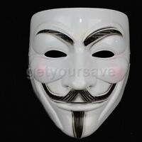 V for VENDETTA Anonymous Cosplay Halloween MASK Prop Costume GUY Fawkes