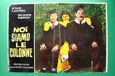 T03 FOTOBUSTA NOI SIAMO LE COLONNE STAN LAUREL OLIVER HARDY STANLIO OLLIO RARA
