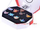 Pokemon: Kanto Gym Badges Set of 9 Metal Pins Eevee Sylvon Vaporeon Umbreon+BOX