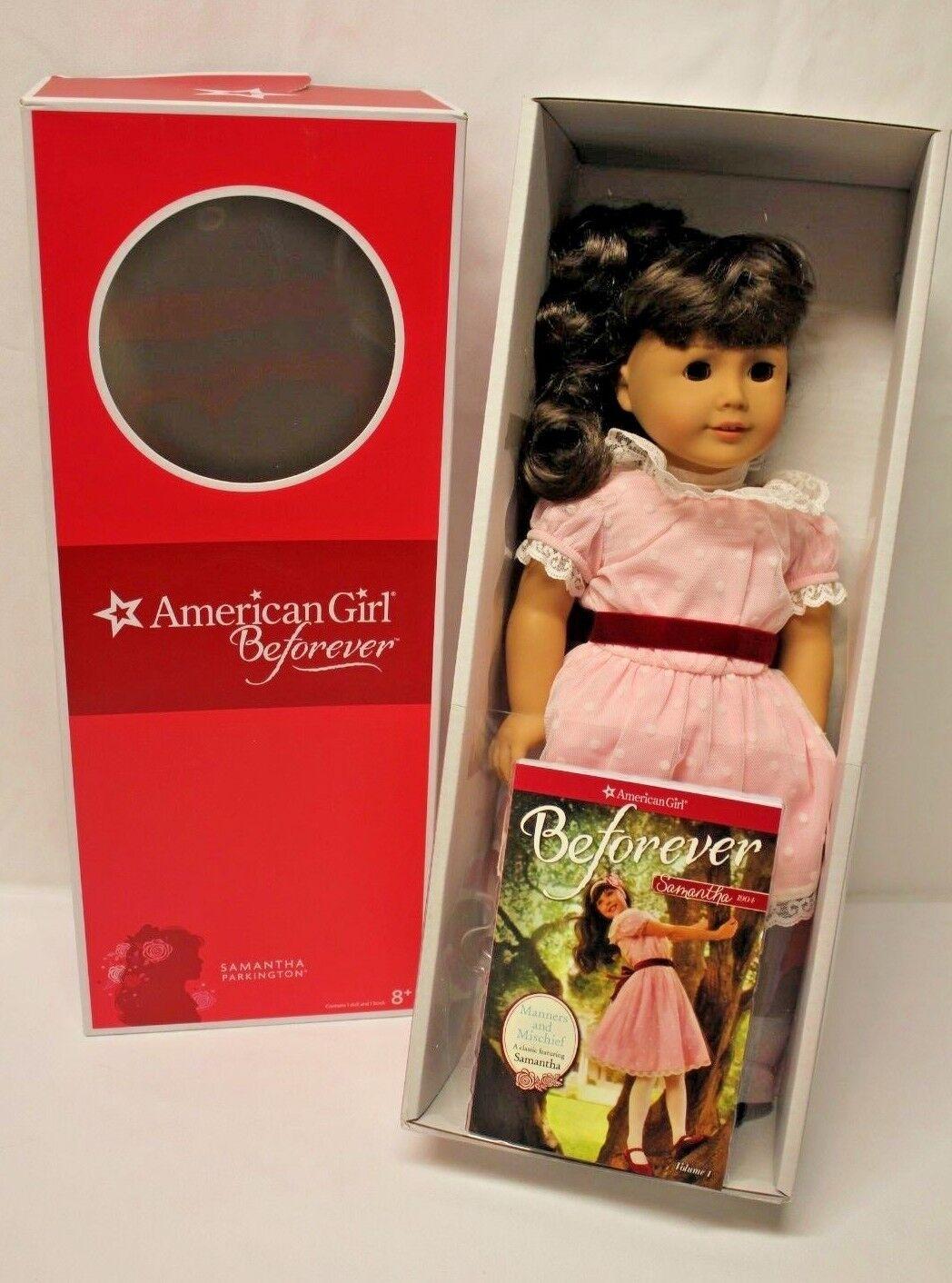 American Girl beforever Samantha 18  Muñeca & Libro (a estrenar en caja)