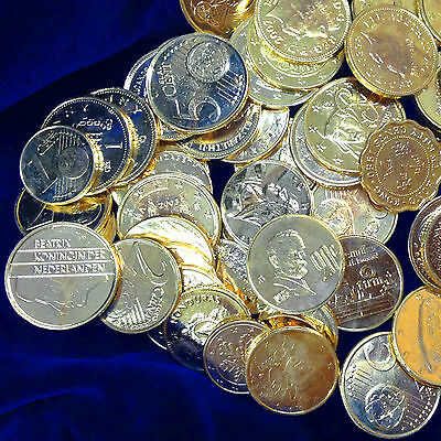QUARTER 1//4 POUND 0.25 Lb BAG SHINY GOLD CLAD WORLD COINS FOREIGN COIN LOT WIN
