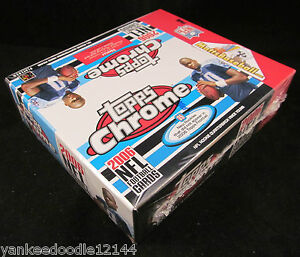 (2) TWO~2006 TOPPS Chrome NFL Football CARD FACTORY SEALED BOXES, 24 packs/4ct