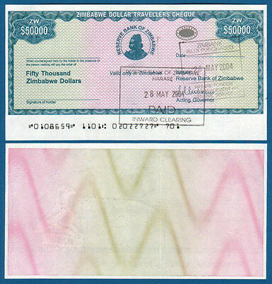 Zimbabwe 50.000 Dollars Aunc P Contemplative Simbabwe 19