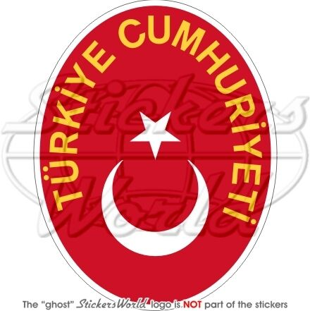 TURQUIE Turque Armoiries Blason Sticker Autocollant