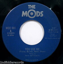 THE MODS-You Use Me & Step Outside Tonight-Rare Canadian Punk Rock 45-MOD #001
