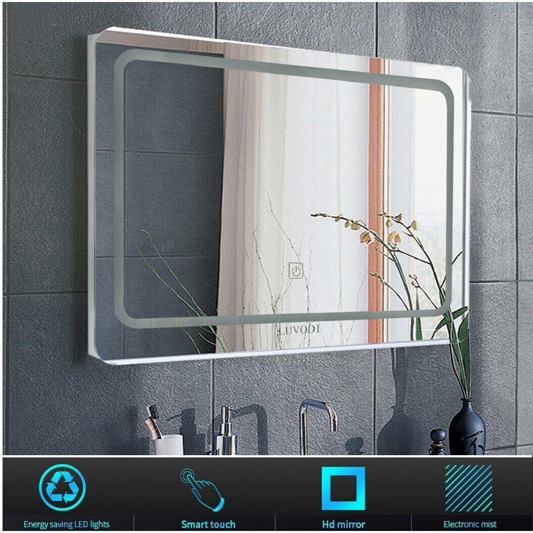 Badspiegel LED Touch mit Beleuchtung Make-up Spiegel Wandspiegel Lichtspiegel DE