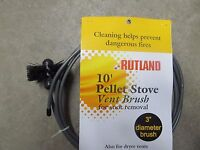 Rutland Pellet Stove Chimney Brush 3 Dia, 10' Long 17409
