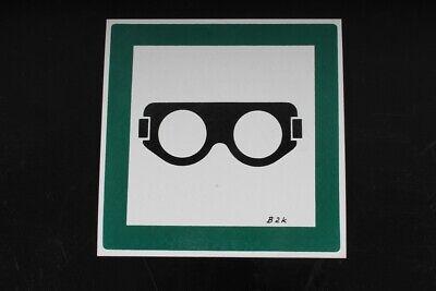 Realistisch Hinweisschild Schild Schutzbrille Brille Kennzeichnung Grün 15cm X 15cm Duftendes Aroma