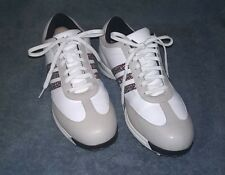 uk availability 28bab ce8ba ADIDAS White Stripe Golf Shoes Womens Size 9.5 M - Driver Okapi Traxion  Fitfoam