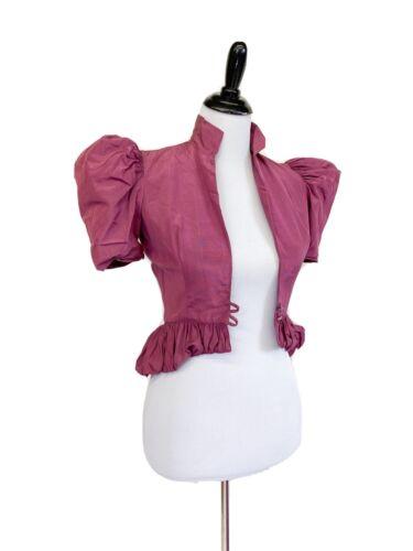 Glam! VTG 1930s 40s Moire Taffeta Bias Dress Gown