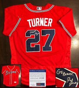 Ted Turner Signed Jersey Atlanta Braves PSA/DNA COA
