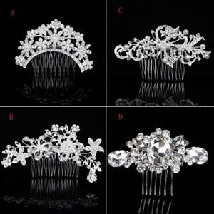 Wedding-Hair-Combs-Bride-Crystal-Rhinestones-Pearls-Hairpins-Bridal-Headpiece