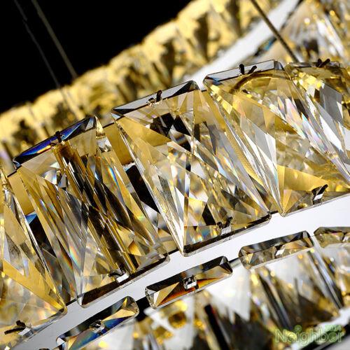 Modern Crystal Round Ring LED Pendant Lamp Suspension Hanging lights Chandelier