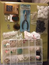 Lot of Assorted Jewelry Making Supplies-Stones, Swarovski, Findings - 8 Lbs