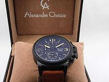 Alexandre Christie 6280 MCLIPBAYL Brown Leather Analog Chronograph  Watch