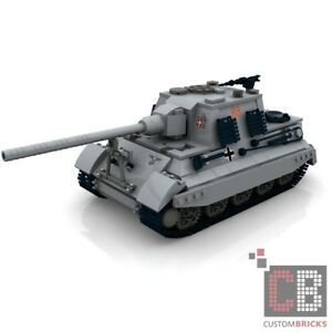 custom pdf instructions ww2 wwii tank hunting tiger for lego bricks