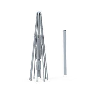 Sonnenschirm Gartenschirm Schirm Gestell 3m 300cm Alu Aluminium Silber B-Ware