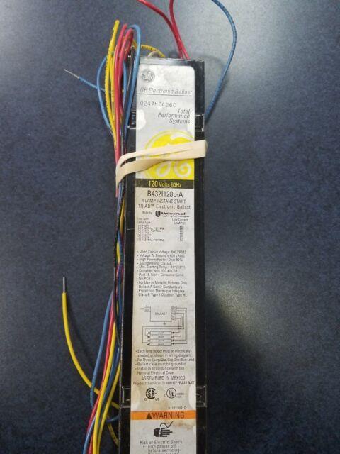 GE Rapid Start Ballast 8G1022 Class P 120V 60Hz 0.80A Read description!