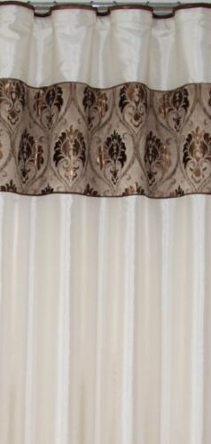 Luxe Rideaux Naples 2 Foulards dans le SET 280 cm x 250 cm fini cousu NEUF 845-3