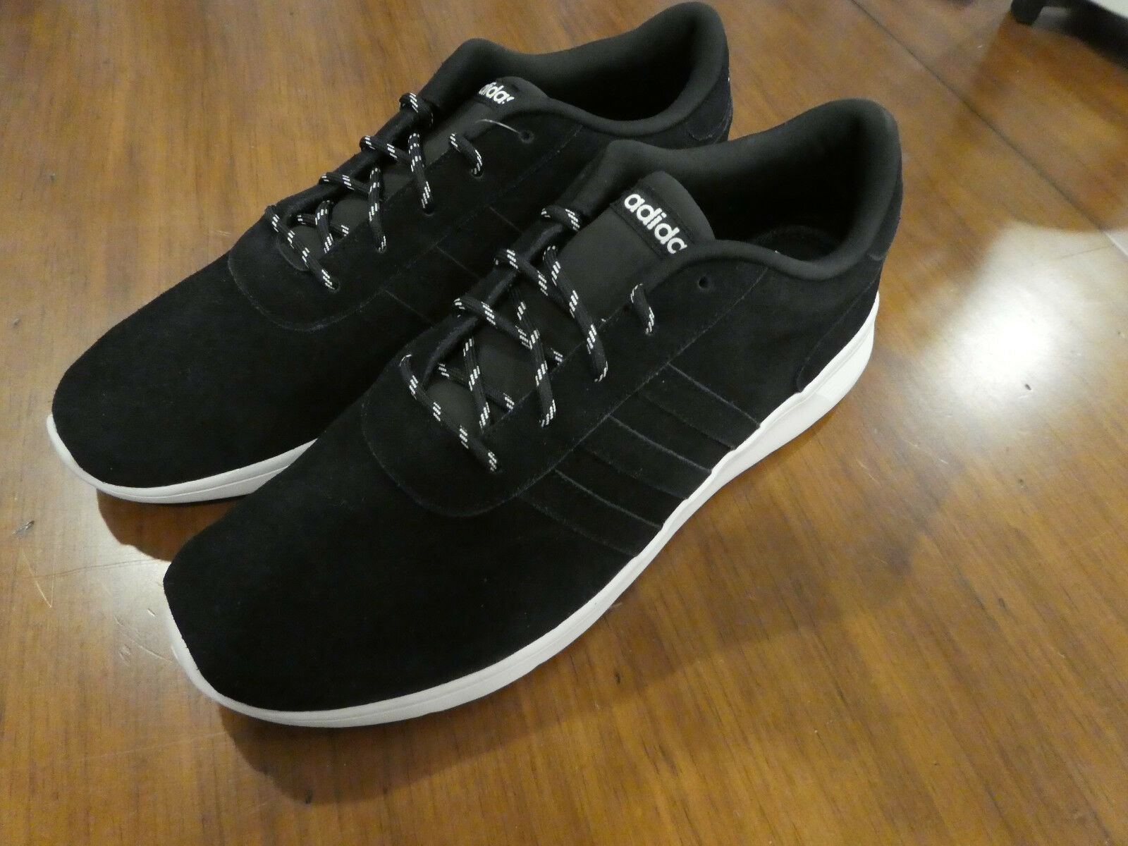 Adidas Lite Racer Lux F98105 F98105 F98105 new shoes mens sneakers black suede 514fb9
