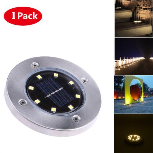 8-LED Solar Power Light Under Ground Lamp Outdoor Garden Step Decking Lighting