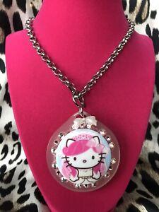 06790b5c4 Tarina Tarantino HUGE Pink Head Hello Kitty Bride Bridal Swarovski ...
