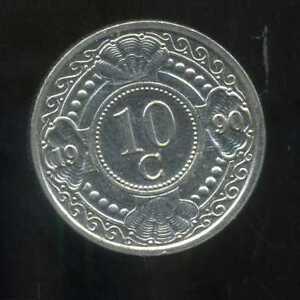 PAYS-BAS-antilles-10-cents-1990