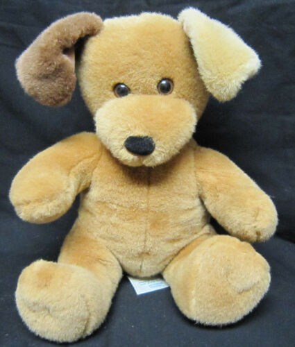 "11"" BABW Build A Bear Plush Brown Dog with Two Tone Bent Ears"
