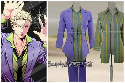 Hot! jojo/'s Bizarre Adventure Kira Yoshikage cosplay costume uniform GG.219