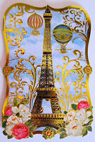 10 Punch Studio French Eiffel Tower & Roses Note Cards. Die Cut. Gorgeous