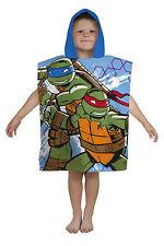 Nuevo Teenage Mutant Ninja Turtles Capucha Toalla Poncho Niños Chicos playa de vacaciones