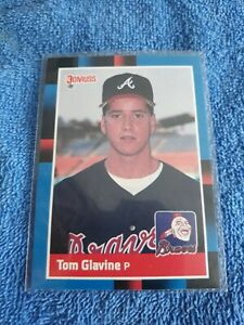 1988 Donruss Tom Glavine Atlanta Braves #644 Baseball Card ROOKIE