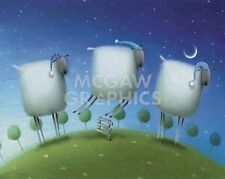 "SCOTTON ROB - INSOMMAIC SHEEP - ART PRINT POSTER 8"" X 10"" (1594)"