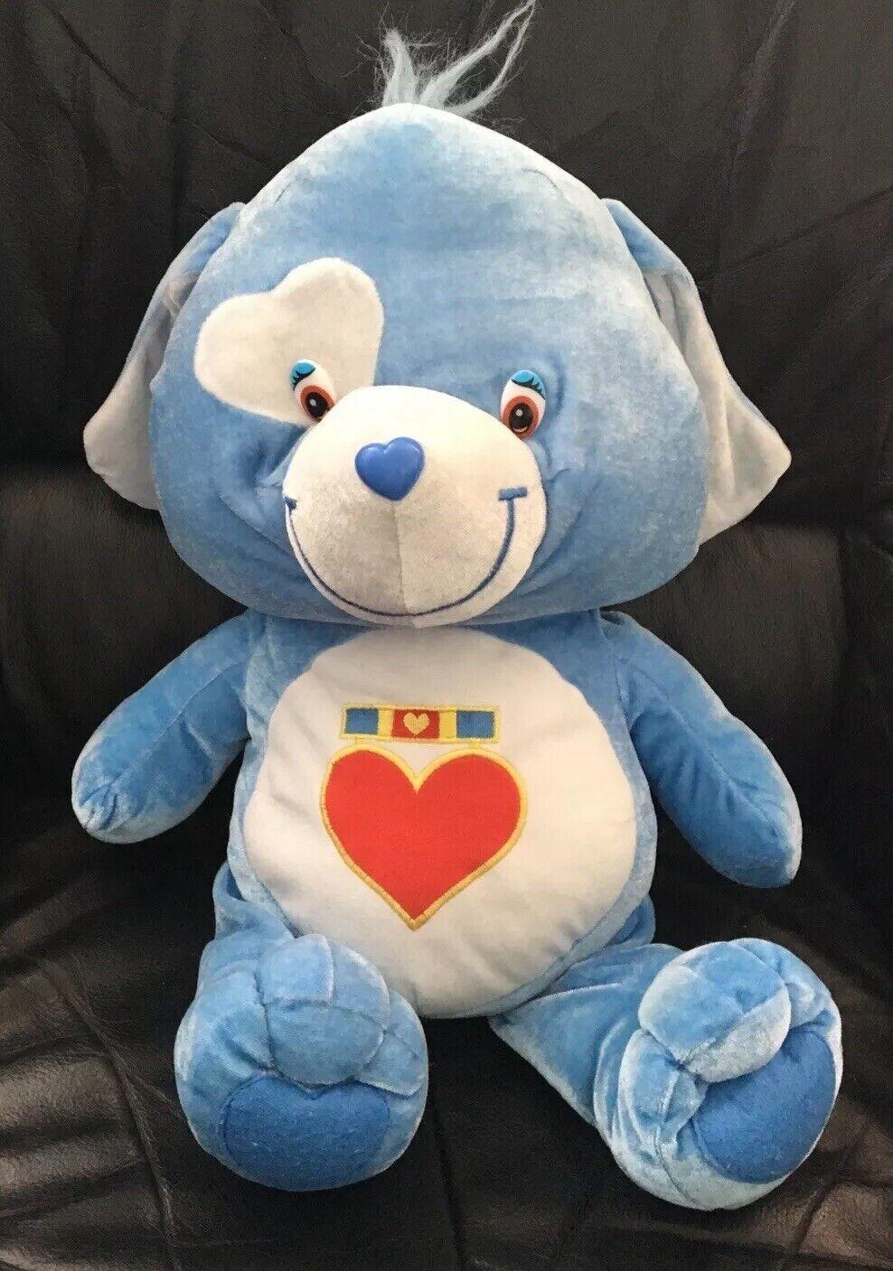 Large Care bear cousins Loyal heart Blau dog Cuddly soft toy