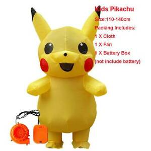 Adult Mascot Pikachu Detective Inflatable Costume Cosplay Halloween Funny Dress