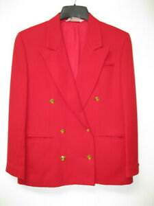 Made In The Usa Vintage Austin Reed Red Wool Jacket Blazer Women S Xs S Size 4 Ebay