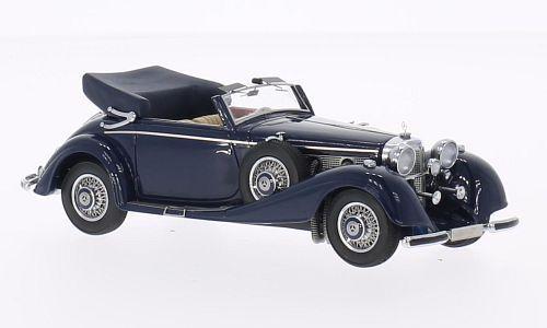 Neo 46165-mercedes 500 540k cabriolet dark bluee - 1936 1 43