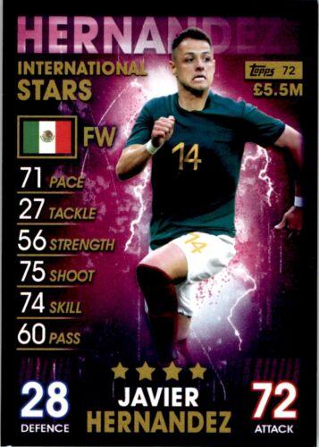 Topps Match Attax 101-Javier hernandez mexico International Star Nº 72
