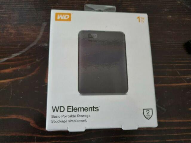 ✅ WD Elements 1TB USB 3.0 ✅ NUOVO SIGILLATO HDD Hard disk esterno portatile nero