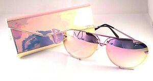 52acb841e3 NEW HOT Fashion Rose Pink Aviator Sunglasses with Mirror Lens and ...