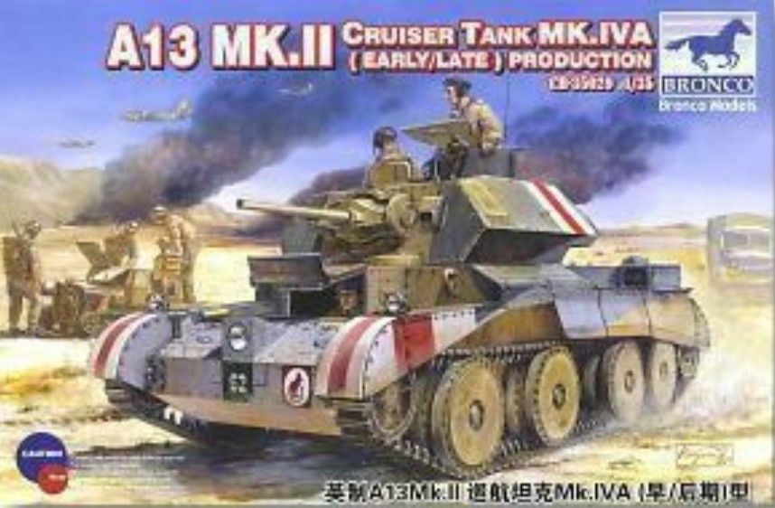 BRONCO MODELS A13 mk.ii Cruiser Tank mk.iva Early Late Tank 1 3 5 KIT 35029