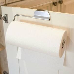 Image Is Loading Over The Cabinet Door Paper Towel Holder For
