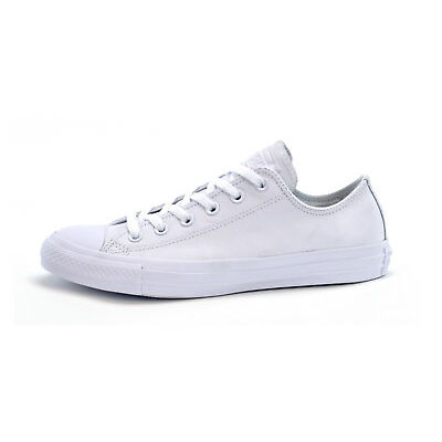 CONVERSE CT ALL STAR OX LEATHER MONO -WHITE or BLACK -UNISEX TRAINERS -BRAND NEW