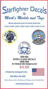 Starfighter-Decals-1-500-U-S-S-ESSEX-CLASS-AIRCRAFT-CARRIER-MARKINGS-1958-1991
