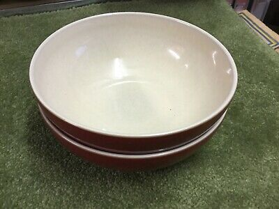 2 Denby Cherry Cook and Dine Cereal Bowls