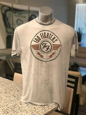 Official Foo Fighters Logo Dave Grohl Rock T-Shirt