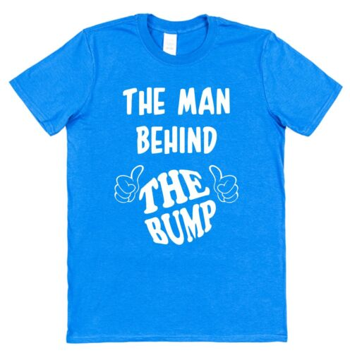 The Man Behind The Bump Funny Cotton T-Shirt Pregnancy Announcement New Dad