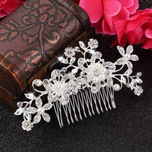 Haarkamm Zirkonia Braut Haarschmuck Hochzeit Perle Haargesteck Kamm Kopfschmuck