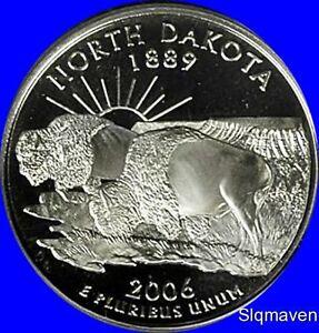 2006-S Deep Cameo GEM Proof Statehood US Quarter c//n clad North Dakota