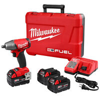 Milwaukee 2755b-22 M18 Fuel 18-volt 1/2-inch Compact Impact Wrench W/ Batteries on Sale